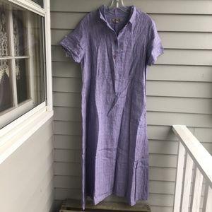"2001 FLAX Jeanne Engelhart ""Very Vintage"" Dress M"